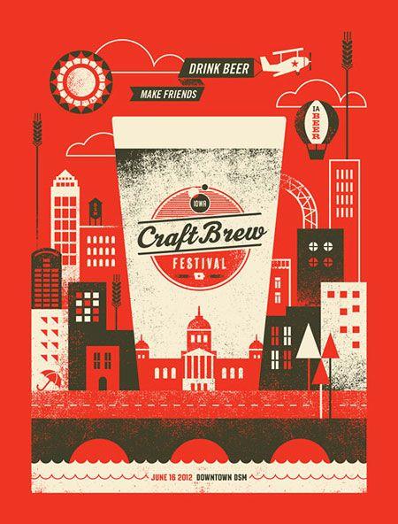 Iowa Craft Brew Festival Poster  Designed by Basemint Design