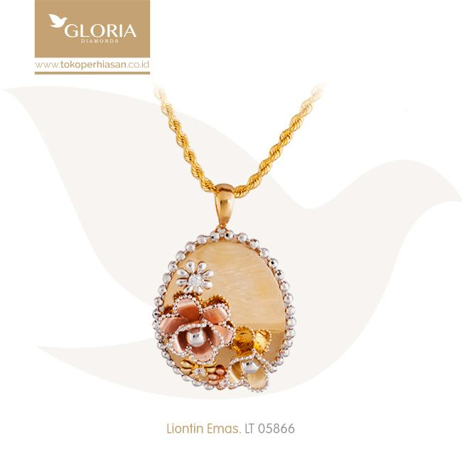 Liontin Emas Bunga Mawar 3 Warna Mata Cubiz Zercornia. #goldpendant #goldstuff #gold #goldjewelry #jewelry #pendant #perhiasanemas #liontinemas #tokoperhiasan #tokoemas
