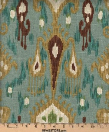 For the home on pinterest turquoise peacock fabric and gray fabric