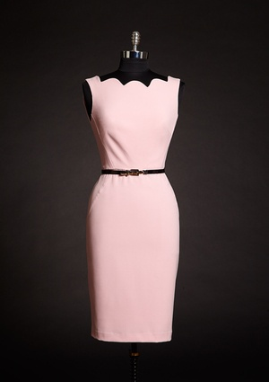 SINGLE Scallop Neckline Dress, Jackie O style. Love. $79.99 @ideeli