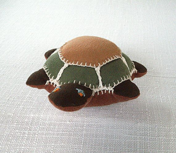 soft toy Turtle stuffed animal Waldorf toy turtle by VeganBabyToys, $27.00