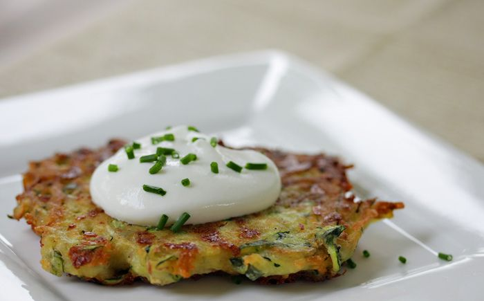 Zucchini Potato Latkes. Mazel tov to whoever came up with this idea ...