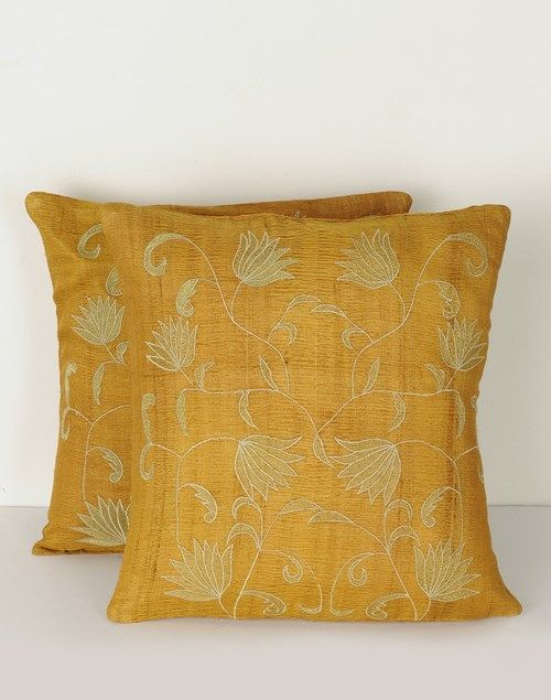 Silk Embroidered Ritika Jaal Cushion Cover