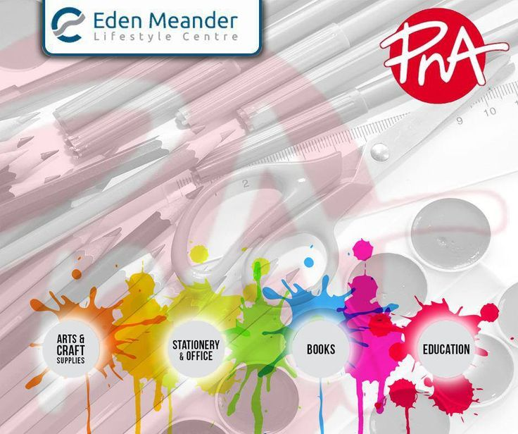 Colour your world with a great selection of art & craft supplies and stationery, available from #PNA. Visit us at the #EdenMeanderLifestyleCentre.