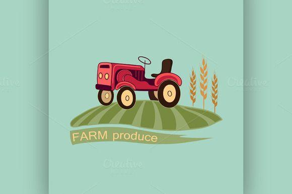 Farm logo and emblem by Netkoff on @creativemarket