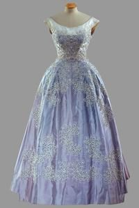 Queen Elizabeth II dress, once again a 1950s design by Hartnell.