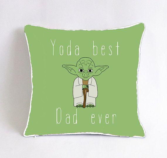 Yoda best dad ever pillowcase-star wars birthday by Pillow6218