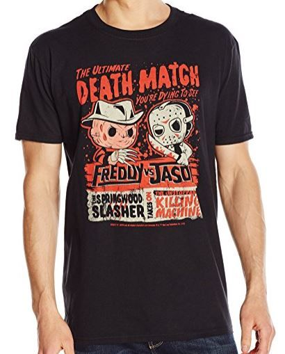 Funko Pop! Freddy Vs. Jason Death Match T-Shirt Freddy Krueger Jason Vorhees (affiliate link)
