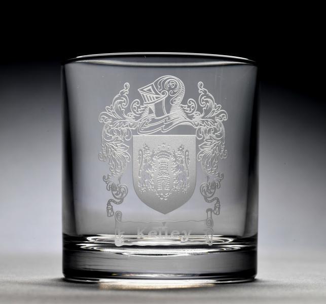 family crest engraved whiskey glass kitchen stuffs. Black Bedroom Furniture Sets. Home Design Ideas