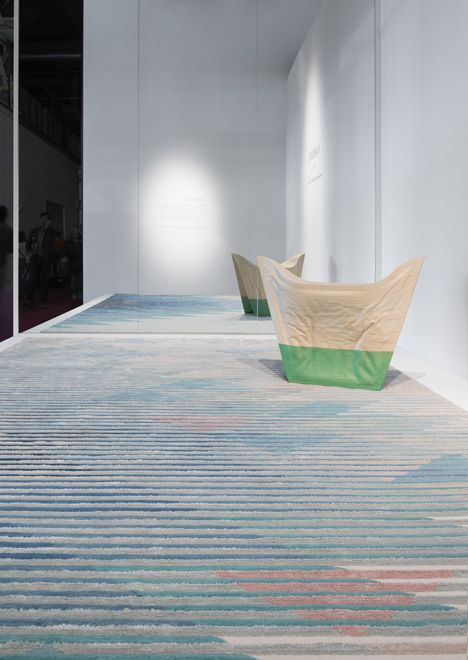 Persian rug company Golran has commissioned London studio Raw Edges to create carpets with patterns that appear to change when viewed from different angles.