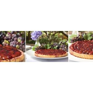 Red Wine and Grape Tart with Anthonij Rupert Petit Verdot