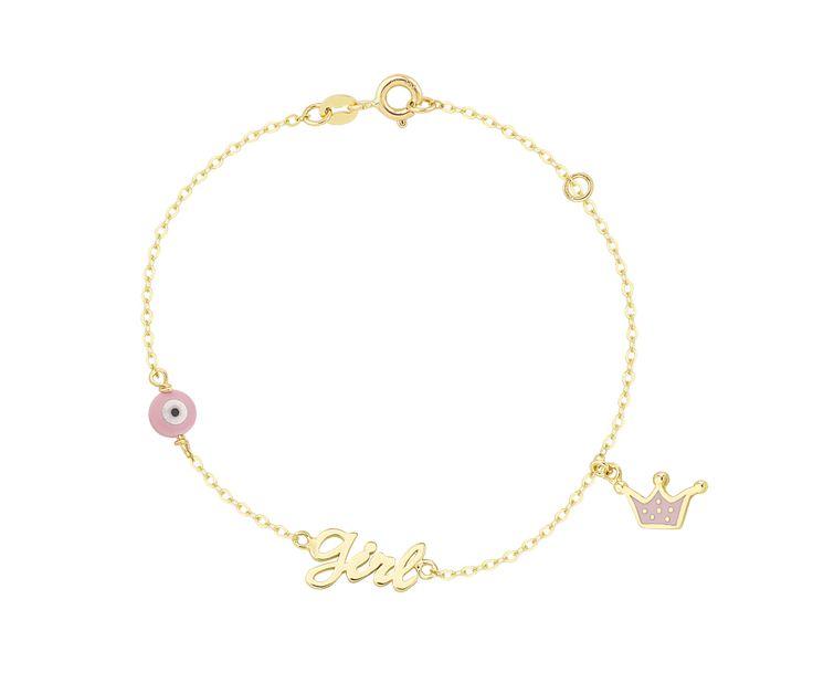 girly gold bracelet in 14K