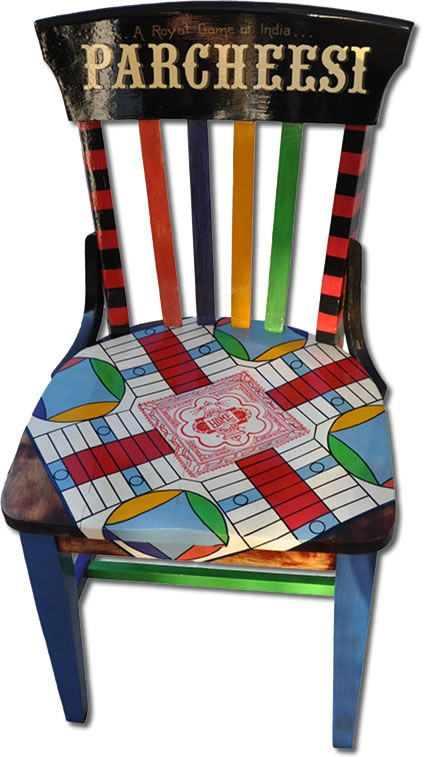 OH! SO! FUN!  (But with a different game:)parcheesi-front decoupage idea