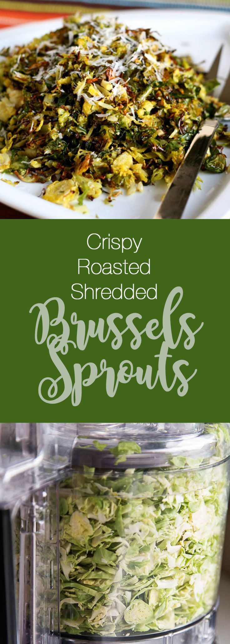 Crispy Roasted Shredded Brussels Sprouts | paleo recipes | side dish recipes | brussels sprouts recipes | perrysplate.com