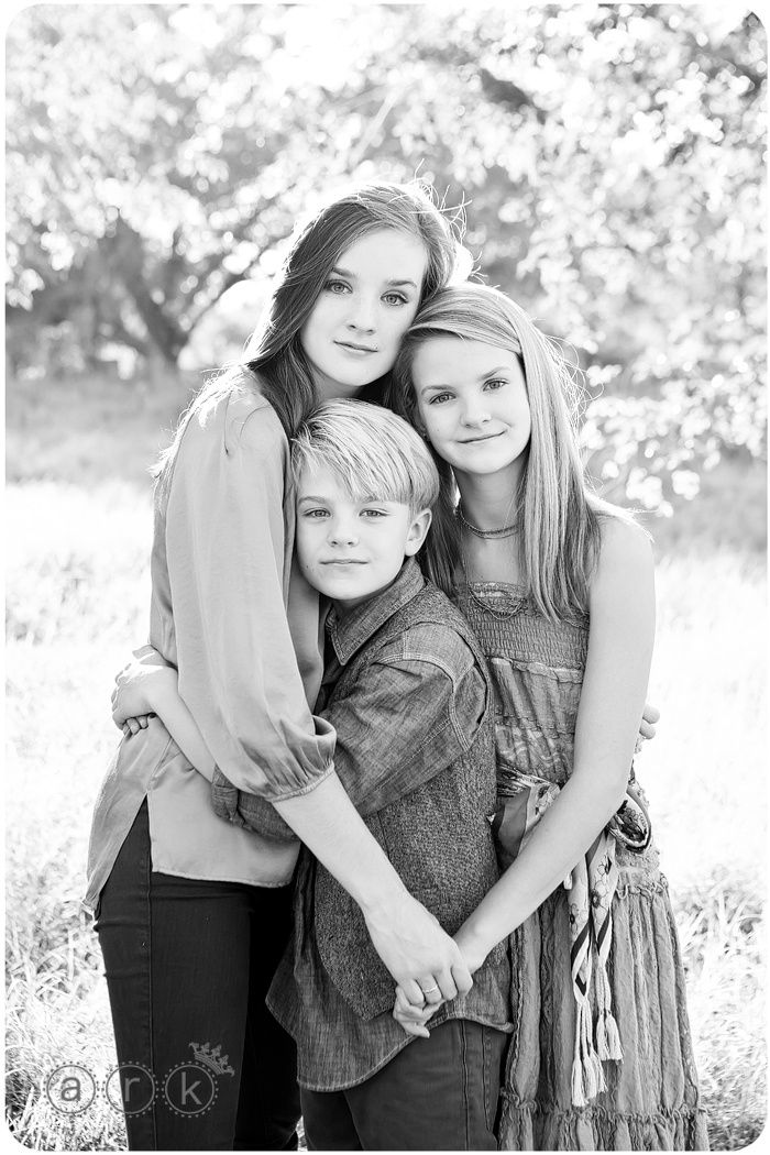 Sisters & Brother. @Alexis Huffman   I doubt I can get the kids to do this... we'll try.  :)
