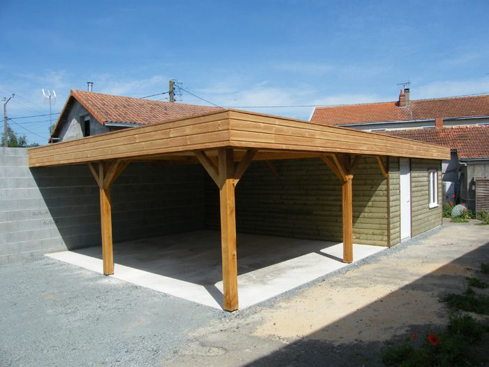 42 best Carport Camping-car images on Pinterest Carriage house - Montage D Un Garage En Bois