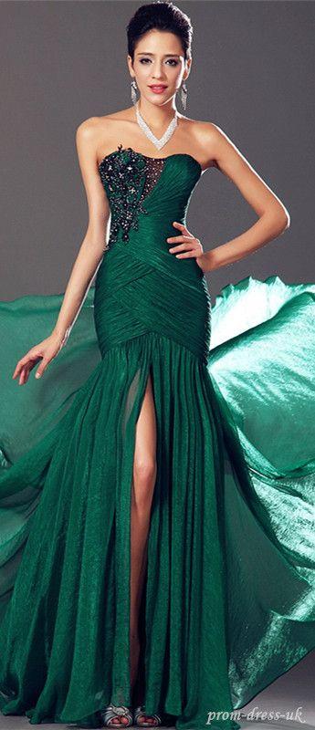 green split prom dress