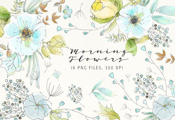 Morning Flowers by Webvilla on @creativemarket