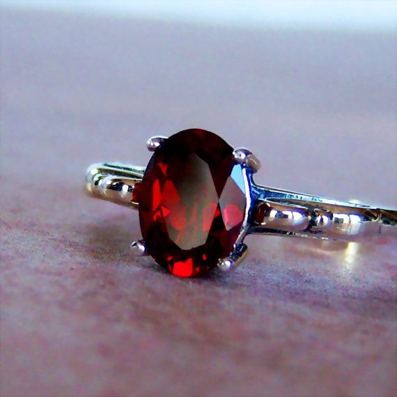 Genuine Mozambique Garnet Sterling Silver by cavaliercreations, $64.00