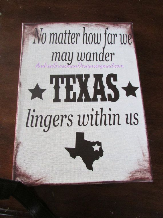 Texas Vinyl Art by AndreaGrossmanDesign on Etsy, $30.00