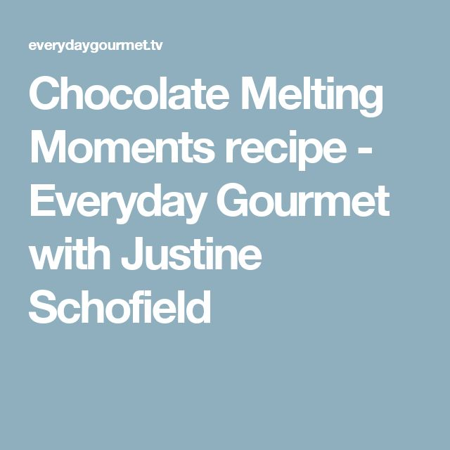 Chocolate Melting Moments recipe - Everyday Gourmet with Justine Schofield