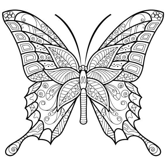 Mandalas Con Mariposas Para Colorear Pintadas Y A Color Mandalas Para Colorear Animales Mandalas Animales Mariposas Para Colorear