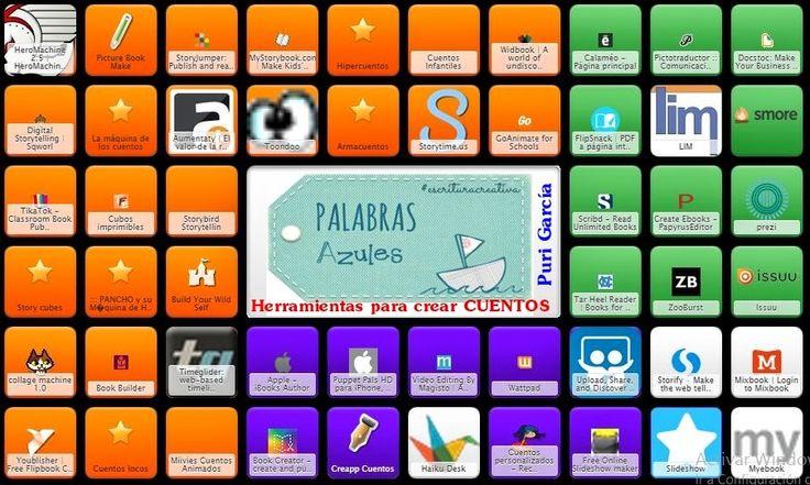 Symbaloo de herramientas TIC para crear y publicar CUENTOS   PaLaBraS AzuLeS