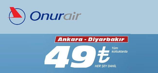 #Ucakbileti #Ucuzucakbileti #Ucakbiletleri - #Havayolları, #OnurAir - Onur Air Ankara-Diyarbakır Uçuşları - http://www.ucakbiletibul.com/havayollari/onur-air-ankara-diyarbakir-ucuslari.htm - Onur Air, Ankara ile Diyarbakır arasında tarifeli uçuşlara başlıyor. Haftanın her günü gerçekleşecek uçuşlarının biletleri her şey dahil 49 TL'den satışa sunuldu. Onur Air Ankara-Diyarbakır Uçuşları başlamıştır.