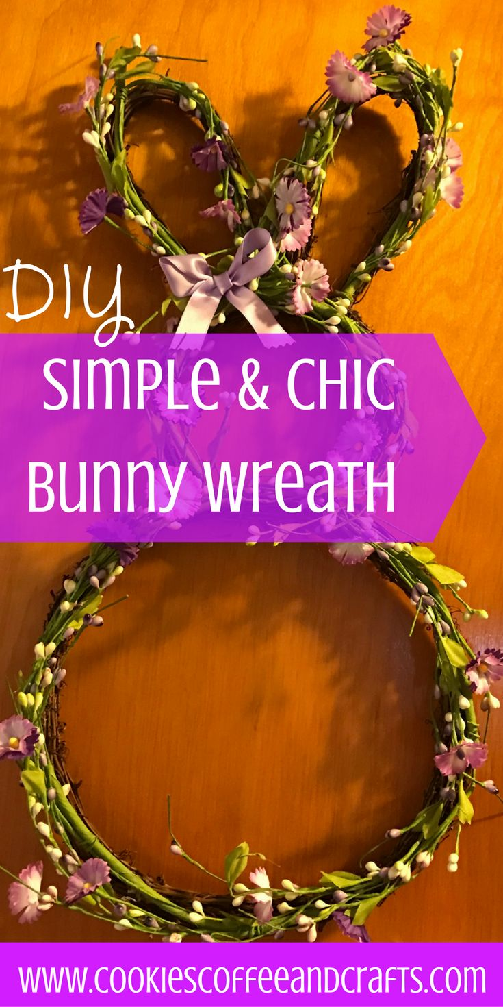 Add spring charm to your front porch with this grapevine decorating idea. Follow the tutorial and learn how to make this simple and chic bunny wreath for cheap. #Easter #DIY #Wreath #Spring