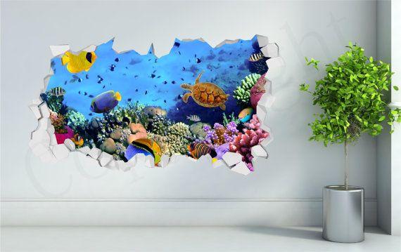 Sea Aquarium Fish Bathroom Under Water by WallPrintCreations