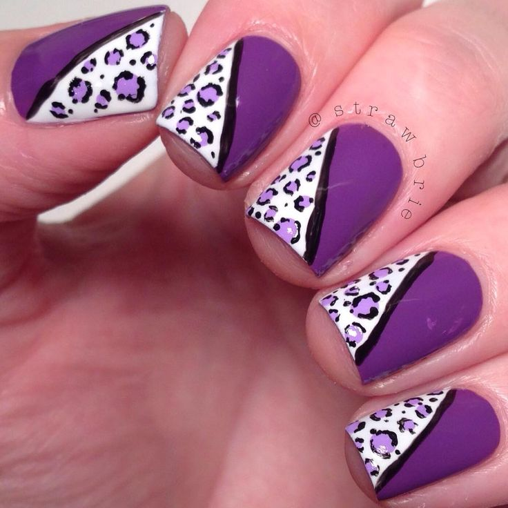 Purple + Tiger Nail
