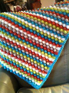 Blackberry Salad Striped Baby Blanket by Tamara Kellyclose free