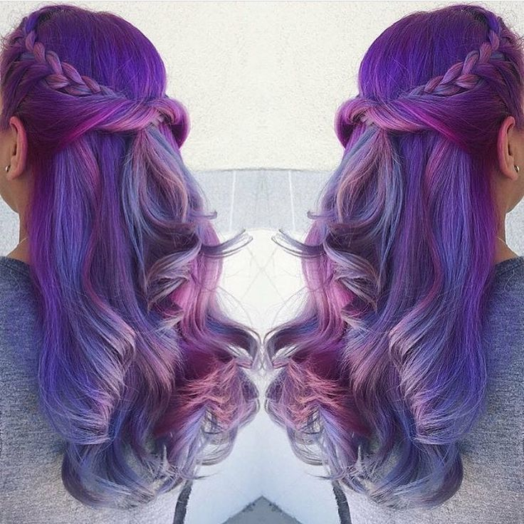 Purple hair with lite purple ends