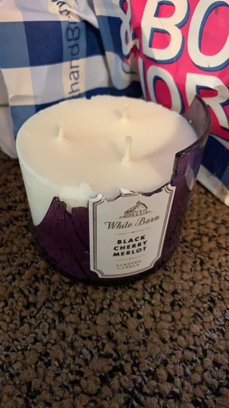 Broken glass but candle is new candles bath body works