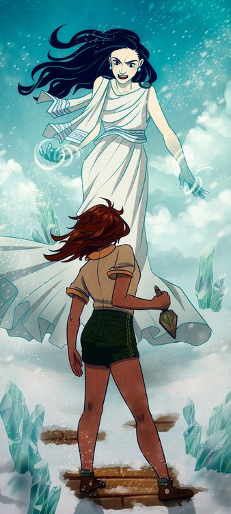 "Piper vs Khoine. This was a pretty awesome scene in ""the house of hades"" by rick riordan. I was like: YOU GO PIPER!"