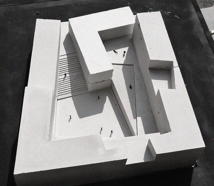 9 maquetas de cemento para presentar proyectos de arquitectura