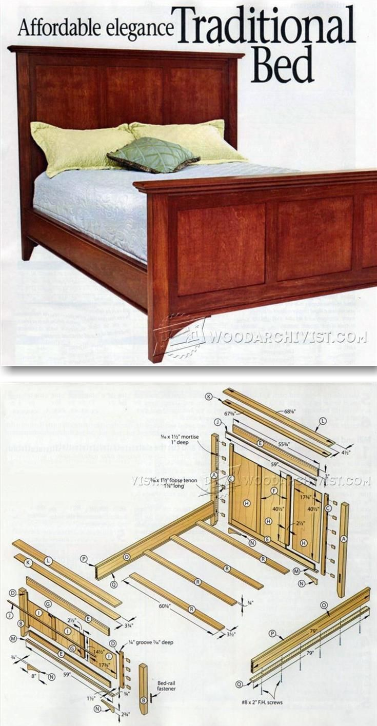 Traditional bed plans furniture plans and projects for Planos carpinteria