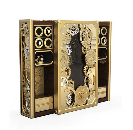 Boca do Lobo | The Baron Safe is an exceptional piece of haute craftsmanship, perfect for those with an appetite for extreme luxury. #luxuryfurniture #goldbox #safebox #luxurysafebox Find more here: http://www.bocadolobo.com/en/private-collection/luxury-safes/baron/