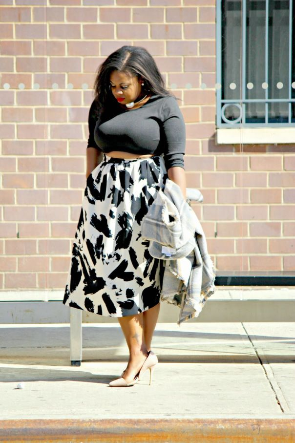 Brushstroke midi and a crop top