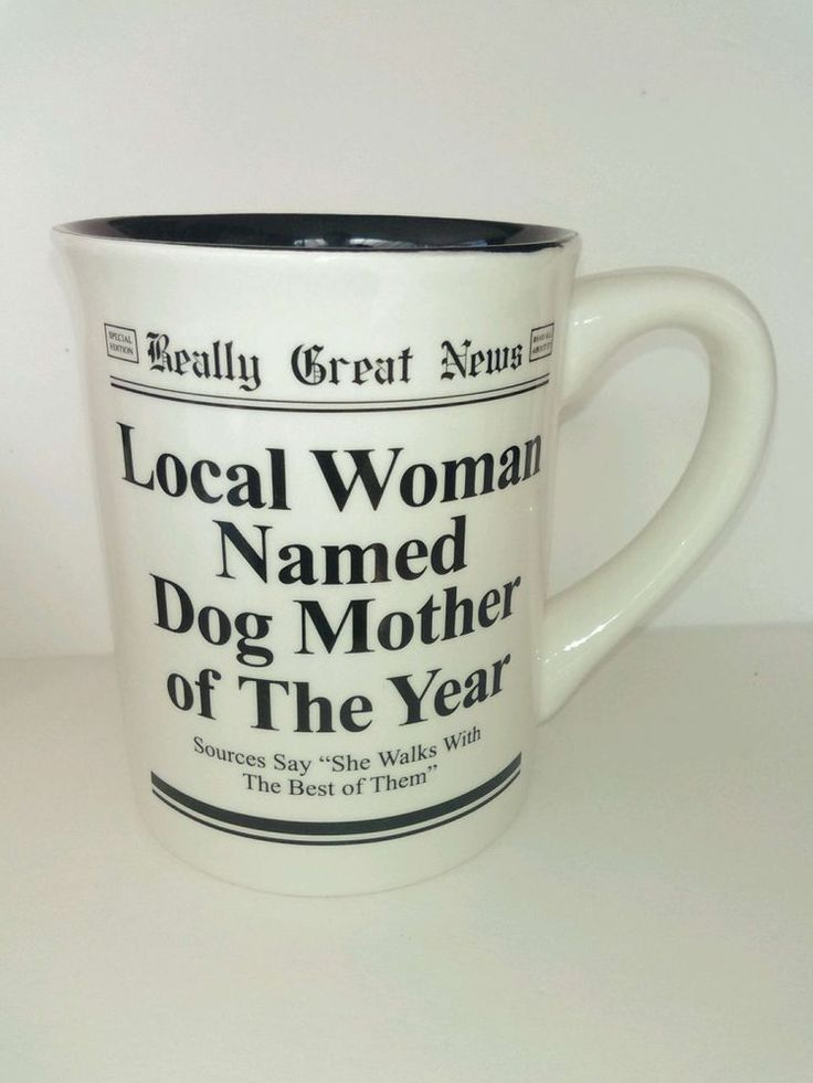 Fun Coffee Mug Dog Mother Of The Year Award Really Good News large 16 oz