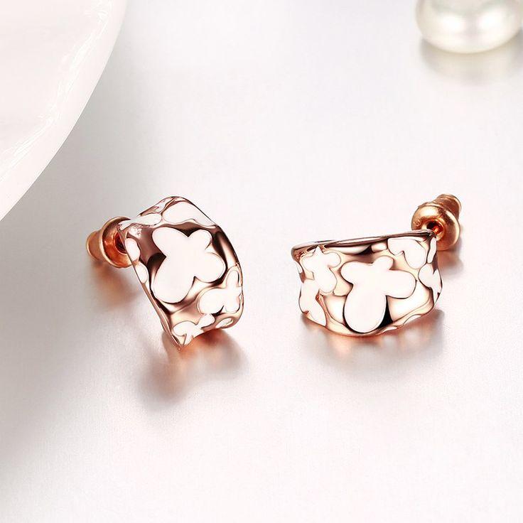 Gnzoe Jewelry 18K Silver Plated Stud Earrings Women Cluster Beads Faux Pearl Eco Friendly WObOj