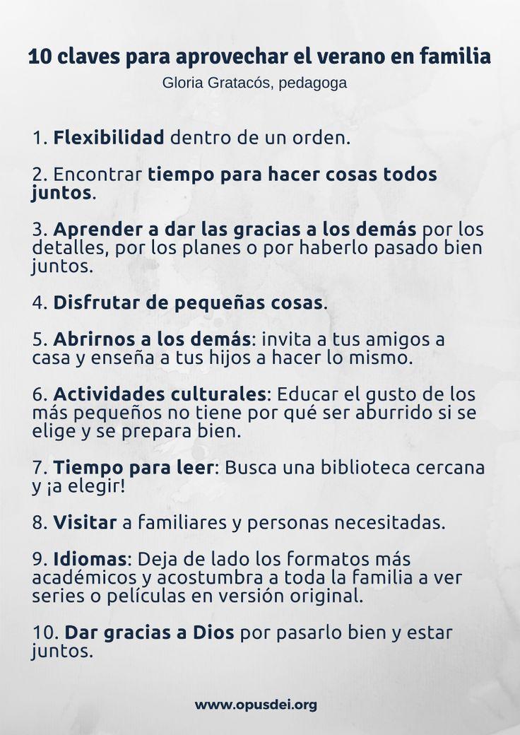 10 claves para aprovechar el verano en familia http://opusdei.es/es-es/article/10-claves-para-aprovechar-el-verano-en-familia/