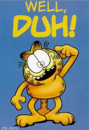 Anybody Home? According to Garfield