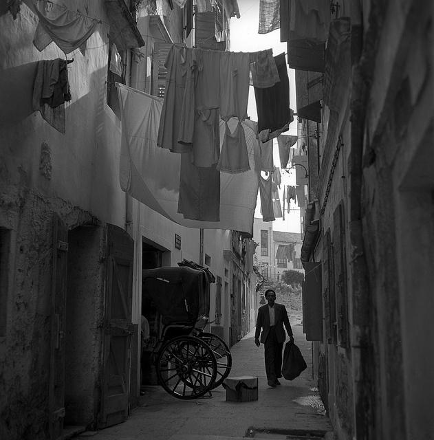 corfu, greece  may 1959 - by Nick DeWolf    beneath the clotheslines