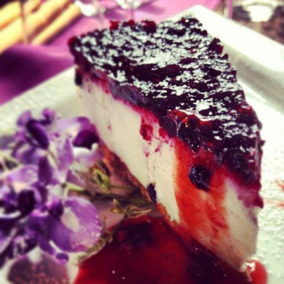 Italian food: Blueberry cheesecake