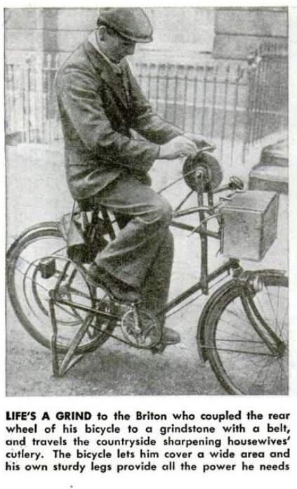 Crafty traveling sharpener.  We don't employ this guy, but we do have a huge selection of sharpeners at lansky.com