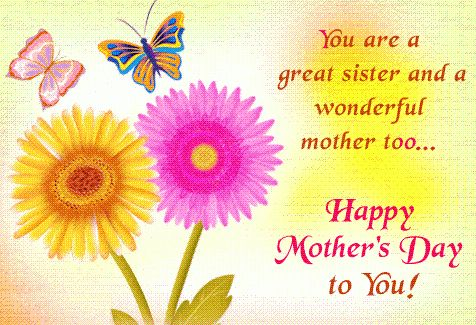 Happy mothers day poems for my sister