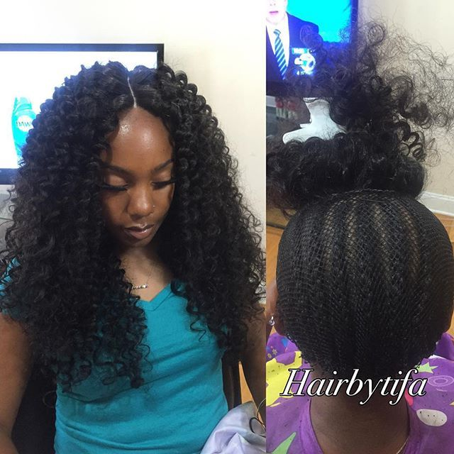 Full sew in with lace closure NO HAIR OUT