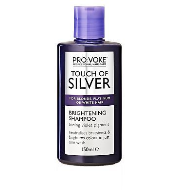 Pro Voke PRO:VOKE Touch Of Silver Brightening Shampoo 12 Advantage card points. PRO:VOKE Touch Of Silver Brightening Shampoo neutralises brassiness and yellow tones with its active violet pigment for a brighter colour in just one wash FREE Delivery on or http://www.MightGet.com/february-2017-1/pro-voke-provoke-touch-of-silver-brightening-shampoo.asp