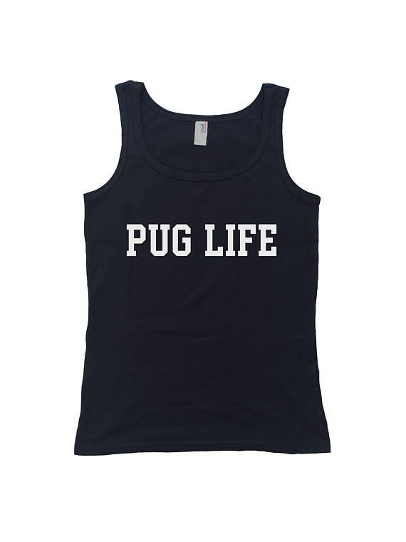 Pug Life Womens Tank Top  Funny Gangsta Pug Shirt  Thug Life